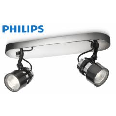 Philips Finish Spot Chroom Zwart Met 2 Spots