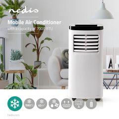 Nedis Mobiele airconditioning - 7000 BTU - Energieklasse A - Afstandsbediening - Timerfunctie