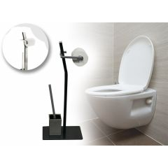 WC Garnituur - toiletrol- en borstelhouder