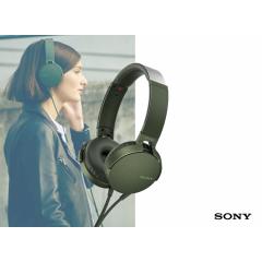 Sony MDR-XB550 extra bass koptelefoon - groen