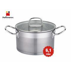 Suppentopf mit Glasdeckel - 6.1 liter