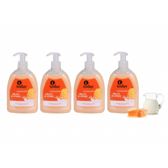 Today handzeep pomp - Melk & Honing 500 ml - 4 stuks