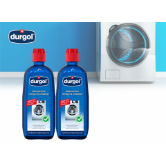 Durgol wasmachine reiniger en ontkalker - 2 stuks