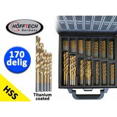 Höfftech Titanium HSS Borenset - 170 Delig