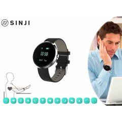 Sinji health-smartwatch - voor Android en iOs - meet o.a. je hartslag en bloeddruk