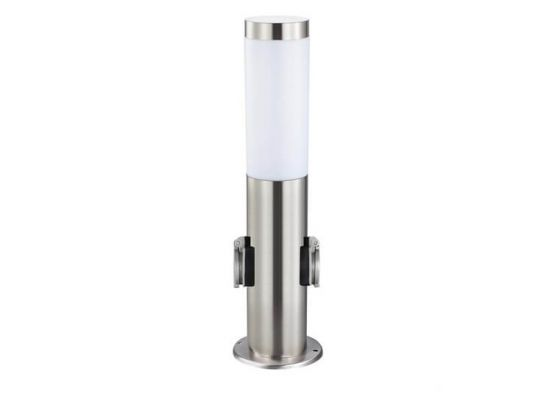 Grafner Tuinstekkerpaal Met LED Lamp - 2 Stopcontacten