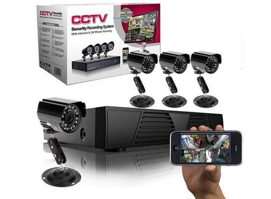 CCTV Video Bewakingssysteem Met 4 Camera's en DVR