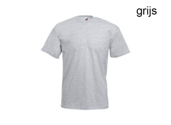 Fruit of the loom T-shirts met ronde hals - 12 stuks - zwart of grijs