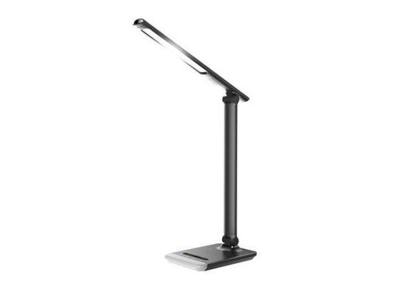 Platinet bureaulamp - Met draadloze oplader & RGB - Zwart