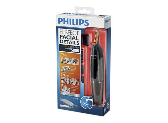Philips neustrimmer series 5000 – Zachte trimmer voor neus, nek en bakkebaarden – NT5176/16
