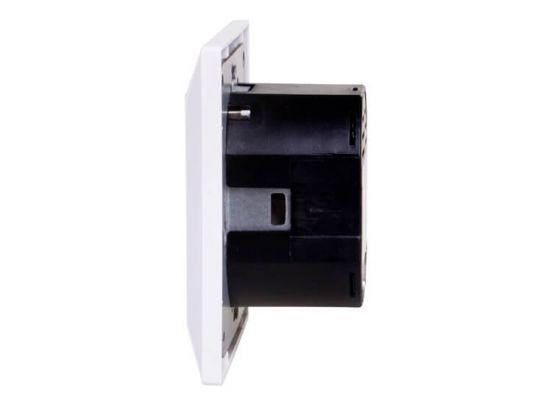 Sil Inbouw wandcontactdoos met 2 USB aansluitingen - RAL9010 - Wit - 2 pack - Randaarde (NL)