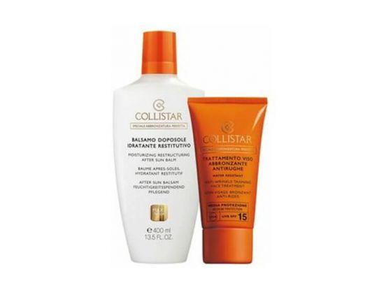 Collistar Aftersun Balm 200 ML + Tanning Cream SPF 15 50ML Rit