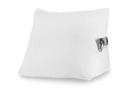 Loungekussen met hoes - wit - 70x50 cm - 100% Katoen