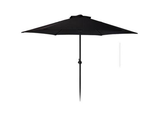 Parasol -250 cm -zwart