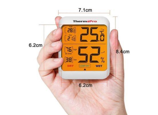 ThermoPro TP-53 Hygrometer - Binnen Temperatuur- en vochtigheidsmeter