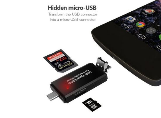 Gibot USB 3.0 Micro SD kaartlezer