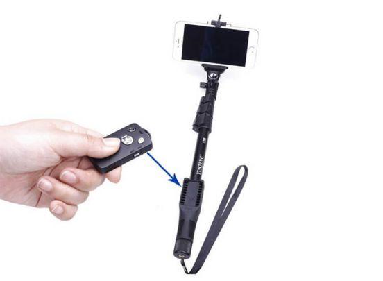 Inklapbare Action Selfie stick - Uitschuifbaar Statief