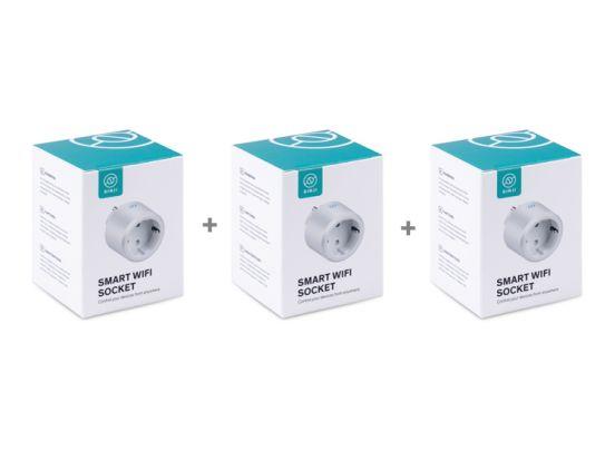 Sinji Smart Wifi Stekker - Wit - Slimme Stekker - 3 stuks