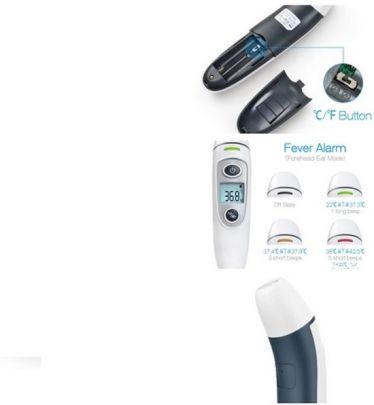 Voorhoofd en oor thermometer - Indicatielampje - LCD Display