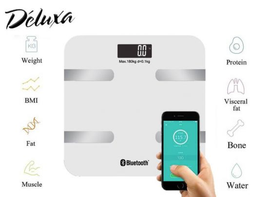 Deluxa Smart Bluetooth Personenweegschaal