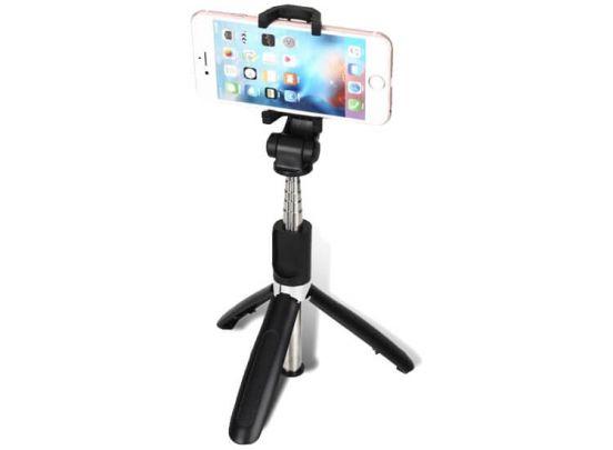 Inklapbare mini selfie stick - Met 3-poot houder