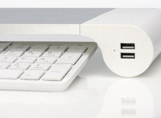 Soundlogic space bar - Monitorstandaard met 4 USB laadpunten