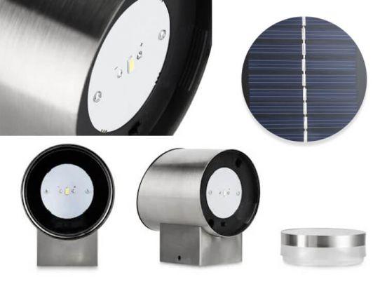 Utah led solar wandlampjes 2 stuks - Draadloos en eenvoudig te bevestigen