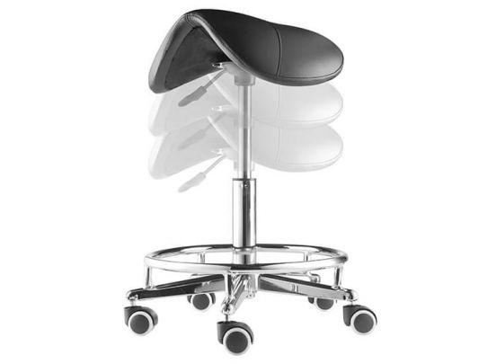 Verstelbare zadelkruk - Te gebruiken als bureaustoel, kappersfiets en werkkruk