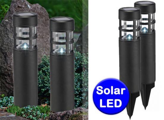 Solar lampen met grondpin - 2 stuks