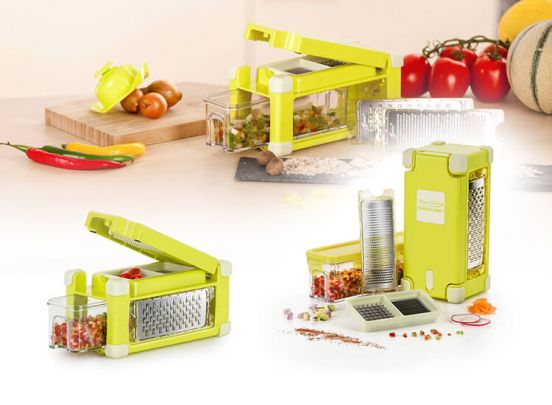 Nicer Dicer Magic Cube Gourmet Yellow 9 delig