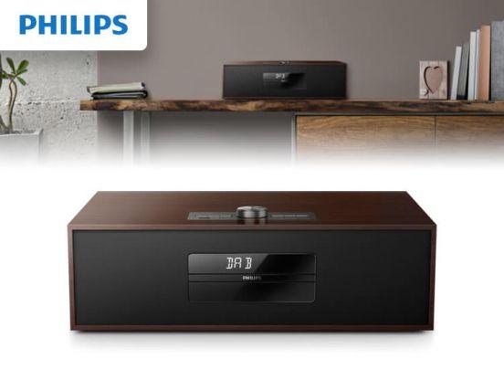 Philips BTB4800 - Microset met DAB+ - Bruin