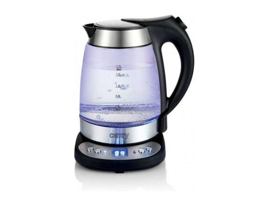 Camry glazen waterkoker - met temperatuur controle - RVS - 2600 Watt