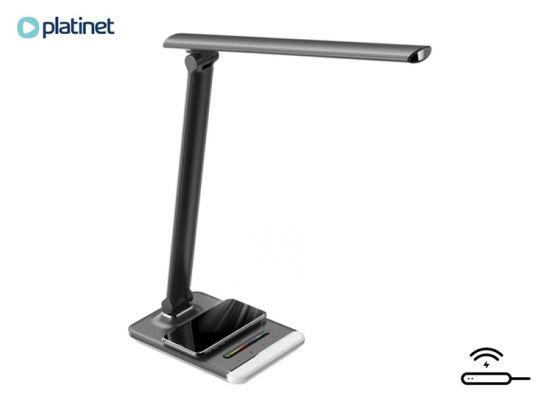 PLATINET DESK LAMP WITH WIRELESS CHARGER & RGB BLACK [44608]