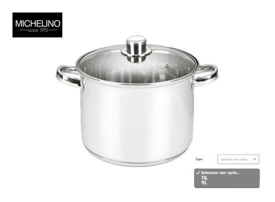 Michelino RVS soeppan – 9 liter