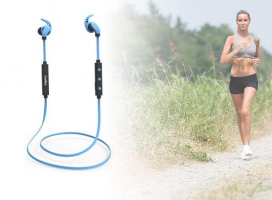 Headset met Bluetooth en microfoon CoolBox COOLSPORTII Blauw