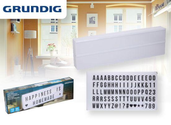 Grundig Led Lightbox - 50 x 15 x 5 cm - incl. 85 letters en symbolen