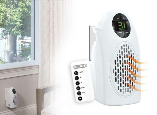 Molino stopcontact mini verwarming met afstandsbediening