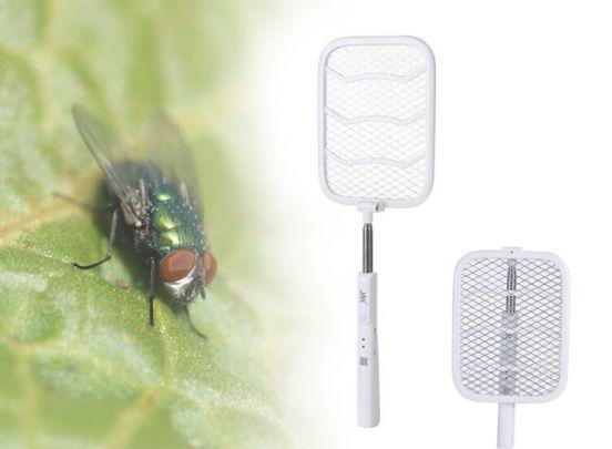 Oplaadbare elektrische uitschuifbare en draaibare vliegenmepper