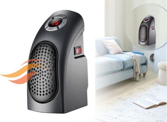 Power fan heater