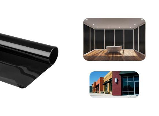 Zonwerende raamfolie 75 x 300 cm zeer extreem Zwart zelfklevend