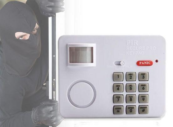 Alarm met bewegings sensor en paniekknop