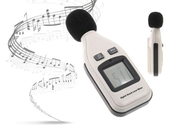 Digitale Decibelmeter - Nauwkeurig van 30 Tot 130 Decibel (dBa) - Duidelijk LCD Display