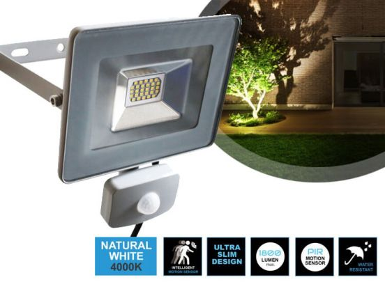 DREAMLED STREAMLINER FLOODLIGHT + SENSOR 20W