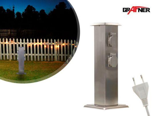 Grafner tuinstekkerpaal - Met 4 stopcontacten