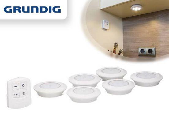 Grundig Draadloze LED Spots met Afstandbediening - Inclusief Timer & Dimmer