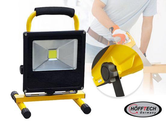 Höfftech oplaadbare led-straler 10W - Een snoerloze en oplaadbare bouwlamp