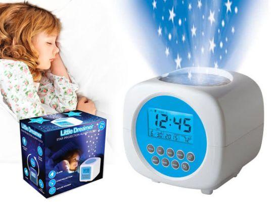 Little Dreamer Digitale Wekker met Projectie - Sterrenprojectie Kinderwekker met Nachtlampje - Temperatuur & Datum Weergave.