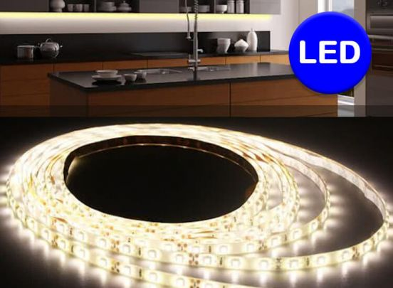 Quintezz 3 meter dimbare en flexibele led-strip - Warm wit licht met afstandsbediening
