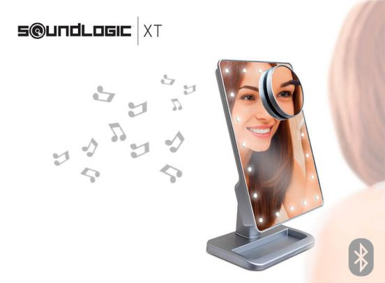 Spiegel met led-licht - Make-up spiegel waarmee je muziek kunt streamen