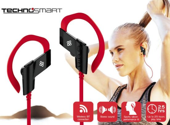 Technosmart Bluetooth in-earphones sports - water resistant